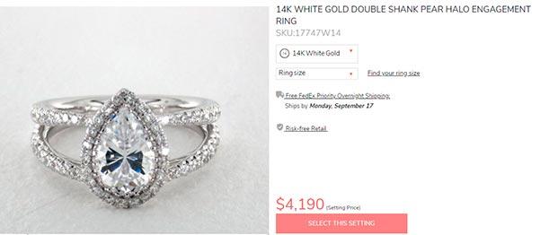 Sophie Turners Engagement Ring James Allen