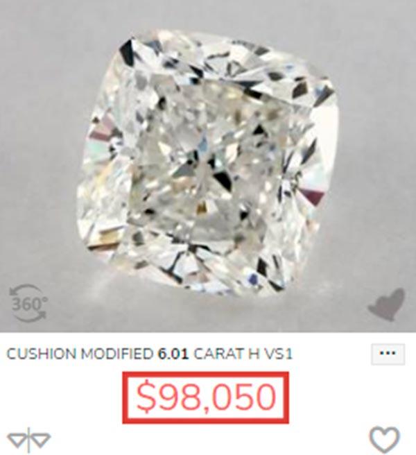 Jessica Biels Engagement Ring Carat Cushion Cut Price Comparison