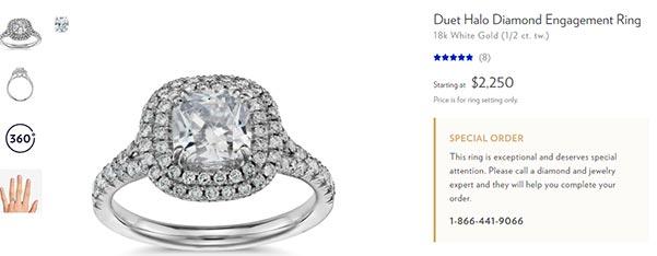 Jessica Biels Engagement Ring Blue Nile Copy