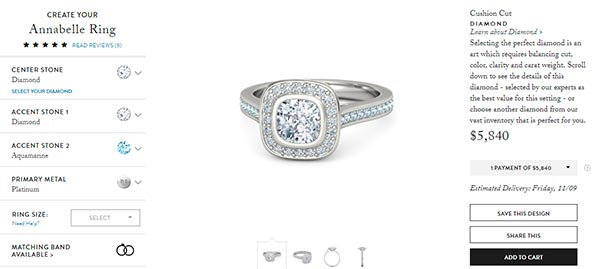 Jessica Biels Engagement Ring Gemvara Copy
