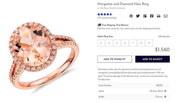 Princess Eugenies Engagement Ring Blue Nile Copy