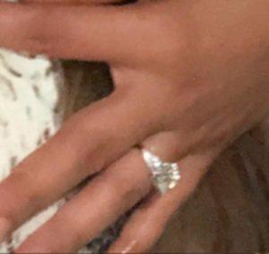 Priyanka Chopras Engagement Ring Side View