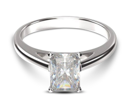 Classic Cathedral Solitaire Radiant Engagement Ring