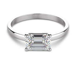Classic Four Prong East West Engagement Ring