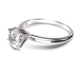 Classic Six Prong Solitaire Diamond Engagement Ring