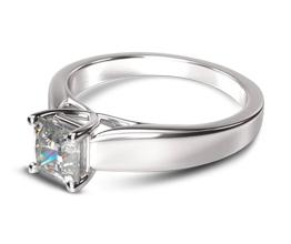 Trellis Princess Solitaire Diamond Engagement Ring