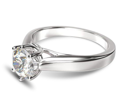 Weavéd Cathedral Solitaire Diamond Engagement Ring