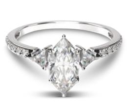 Triangular Three Stone Diamond Engagement Ring