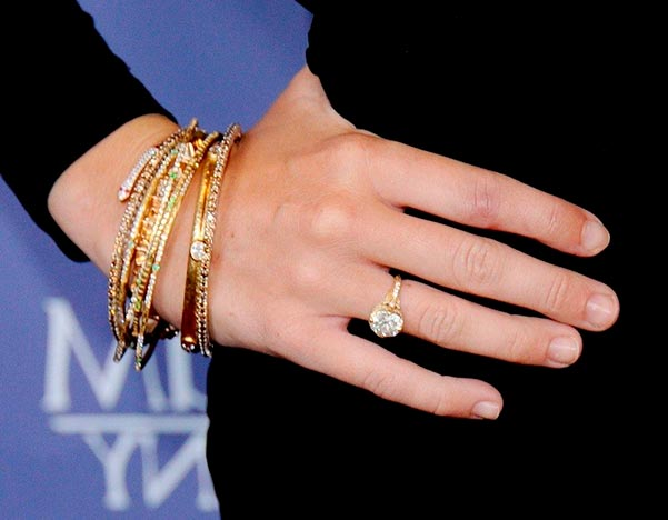 Miley Cyrus Engagement Ring Hand View