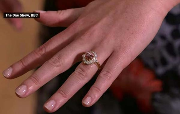 Princess Eugenies Engagement Ring Hand View