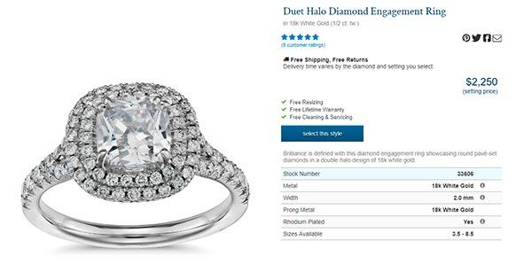 Meghan Trainors Engagement Ring Blue Nile Copy