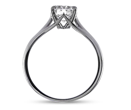 'Simone' four prong solitaire engagement ring