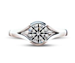'Lena' split shank engagement ring