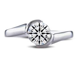 'Taryn' palladium engagement ring