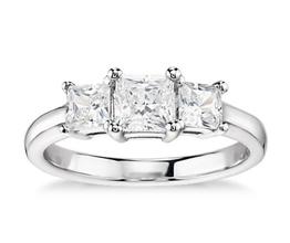 Classic Three-Stone Diamond Engagement Ring