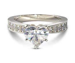 Perfect pavé heart diamond engagement ring