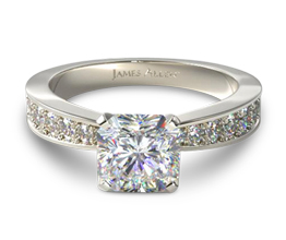 Perfect pavé radiant engagement ring