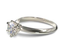 Six prong knife edge engagement ring