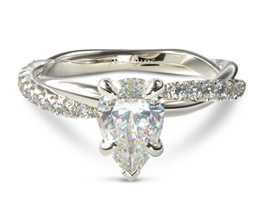 Pavé rope engagment ring