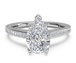Diamond Micropavé Band Engagement Ring