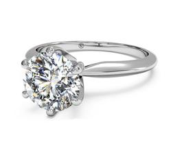 Six-Prong Knife-Edge Engagement Ring