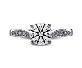 Shelly pavé palladium engagement ring
