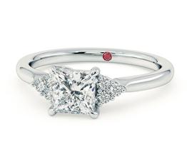 'Divinity' Princess diamond centre and claw-set diamonds