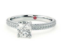 'Halcyon' cushion cut diamond engagement ring