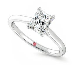 'Hope' radiant claw set engagement ring