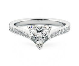 'Embrace' heart shaped pavé engagement ring