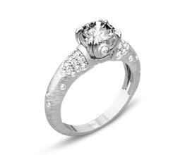 Palladium Champagne Diamond Engagement Ring