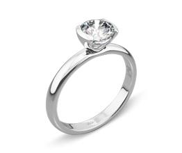 Palladium Eternal Love Solitaire Engagement Ring