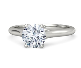 Ivy round diamond solitaire engagement ring