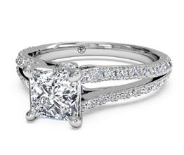 Split band pavé engagement ring