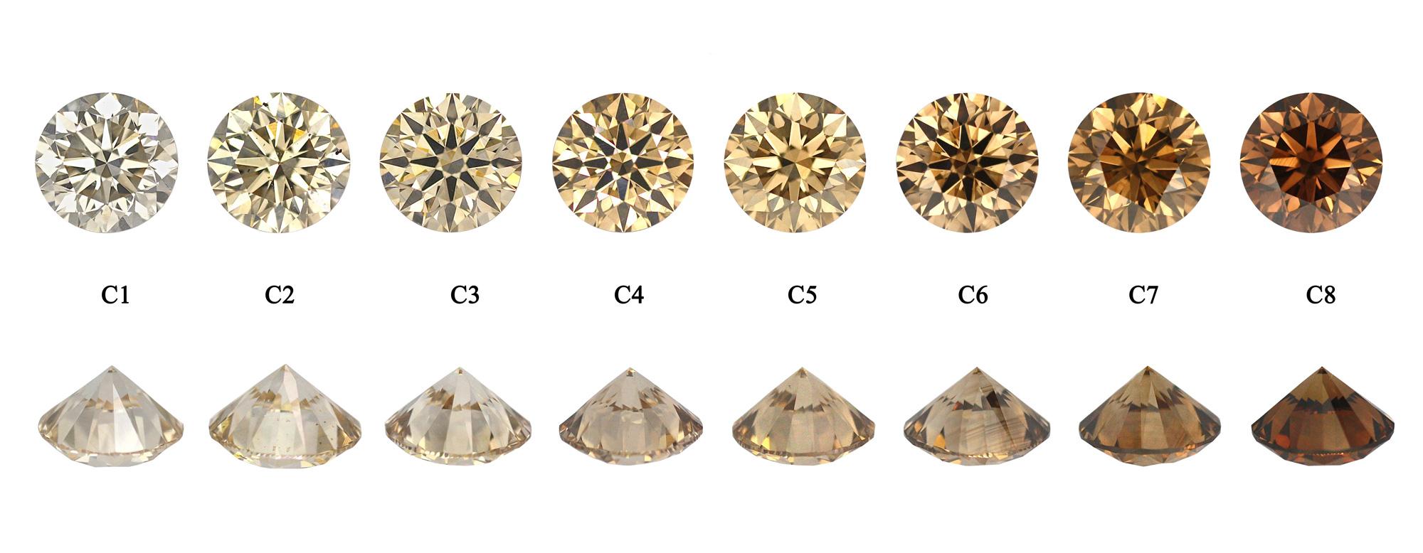 Champagne colored diamonds