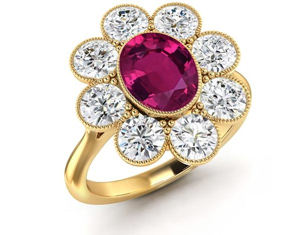 Katy Perrys Engagement Ring Setting
