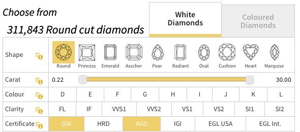 Diamonds GIA AGS