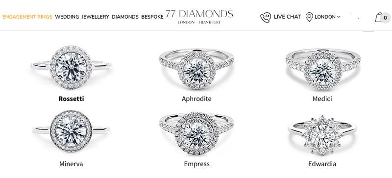 diamonds halo diamond rings