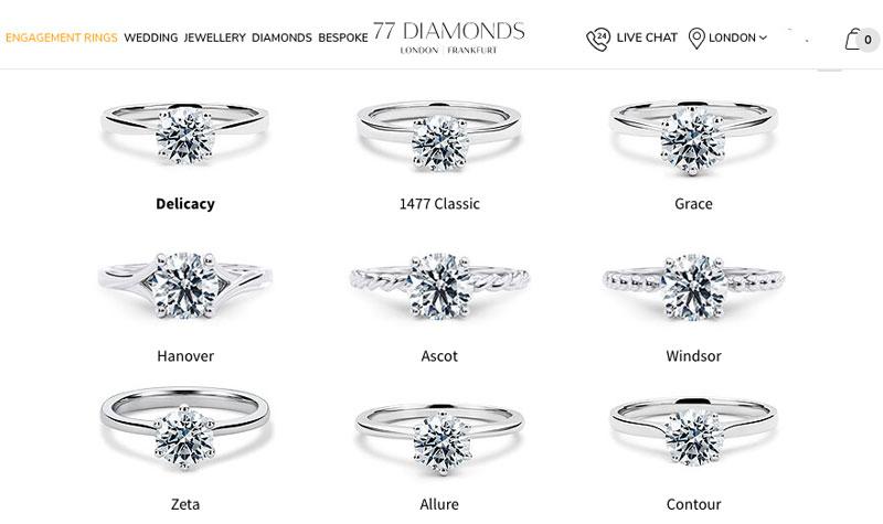 diamonds solitiare diamond rings