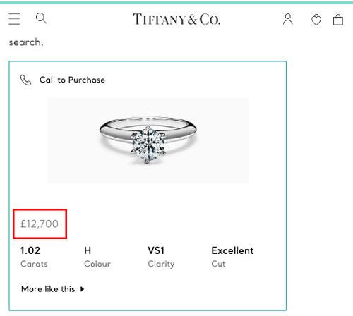 Tiffany diamond soliatire ring