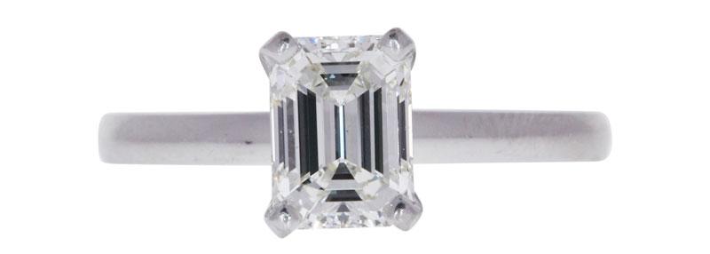 carat emerald diamond ring for resale