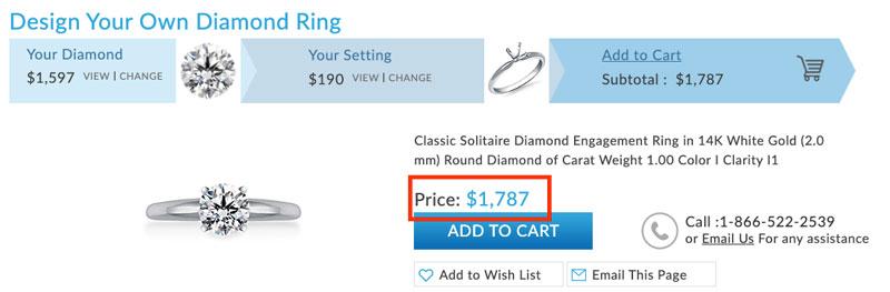 better value engagement ring