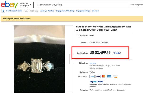dont buy engagement ring ebay