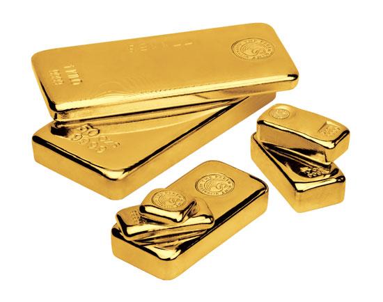 cast gold bars