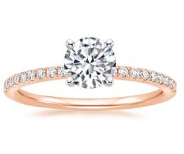 'Ballad' Ring (White Gold Prongs)