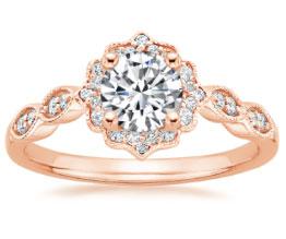 Cadenze Rose Gold Diamond Ring