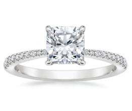 'Elena' Cushion Cut Pavé Diamond Ring