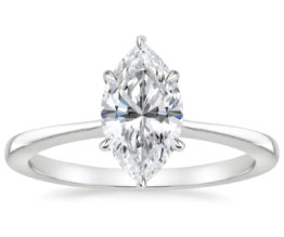 'Elle' Marquise Solitaire Ring