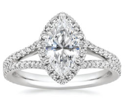 'Fortuna' Marquise Halo Ring