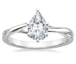 'Grace' Pear Diamond Engagement Ring